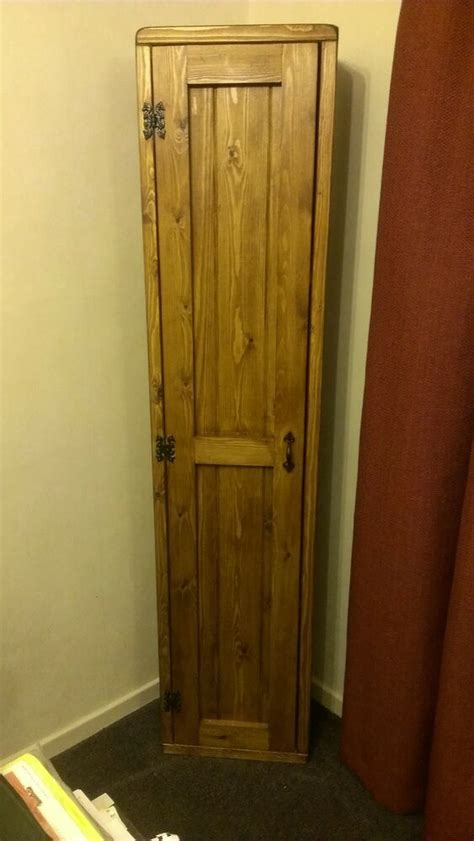 Cd Cupboards by Handmade Bespoke Pine Narrow Broom Cupboard