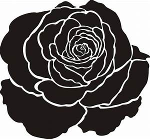 Painting Stencil Large Rose Flower Stencil – Walls