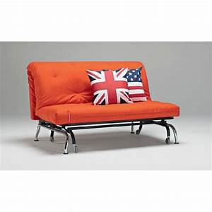 Canape lit bz skater orange design convertible 20 achat for Canapé lit bz