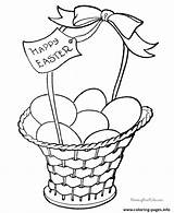 Easter Coloring Pages Basket Printable Baskets Colouring Eggs Printables Bunny Print Template Sheets Egg Happy Templates Quotes Colors Fancy Spring sketch template
