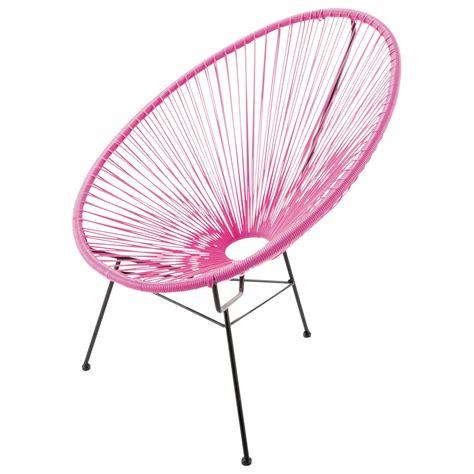 fauteuil de jardin rond rose copacabana maisons du monde