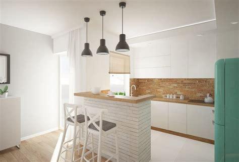 cuisine blanche et bois clair plan de travail cuisine 50 idées de matériaux et couleurs