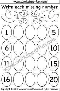 missing numbers images kindergarten worksheets