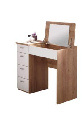 bureau coiffeuse coiffeuse bureau 4 tiroirs redlips chêne et blanc