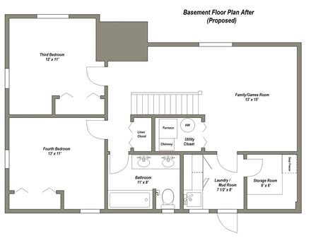 design a floor plan finished basement floor plans finished basement floor