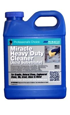 miracle heavy duty acidic cleaner miracle heavy duty cleaner acid substitute
