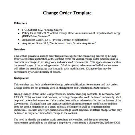 images  construction change order microsoft office