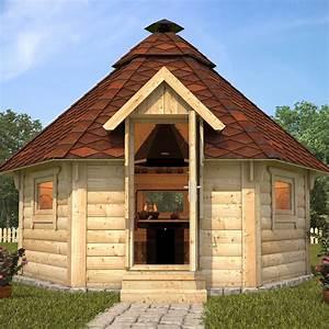 wooden bbq hut grill house grillkota barbecue winter With katzennetz balkon mit garde hut