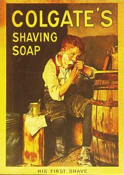 colgates shaving soap vintage tin sign