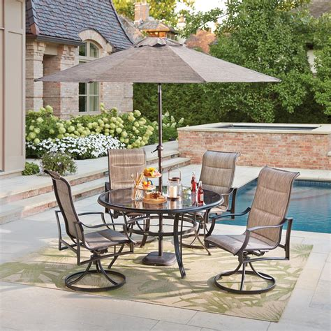 Outdoor Dining Sale by Hton Bay Statesville Pewter 5 Aluminum Outdoor