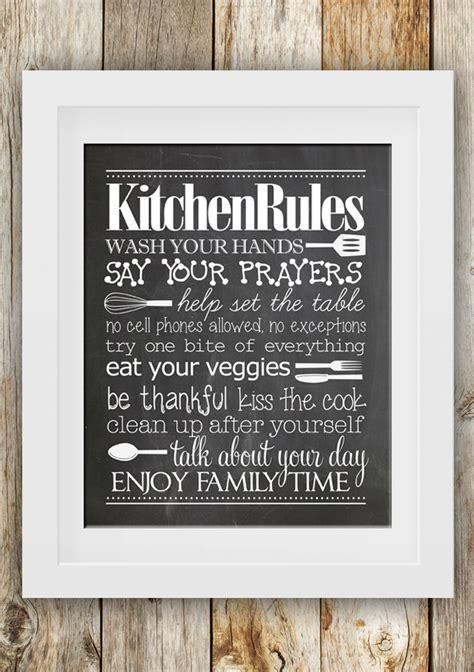 kitchen rules  printable printable decor
