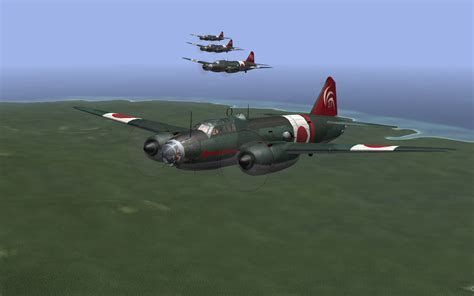 Mitsubishi G4m by Pacific Fighters Windows A Formation Of Mitsubishi