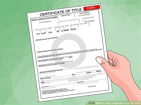 How To Add A Spouse To A Car Title
