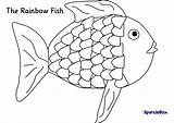 Rainbow Fish Coloring Template Popular sketch template
