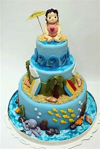 3 tier ocean and beach theme cake with sea life JPG (1 comment)
