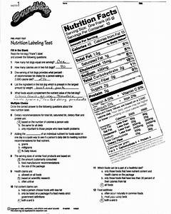 Nutrition Label Worksheet Answer Key Best Of Reading