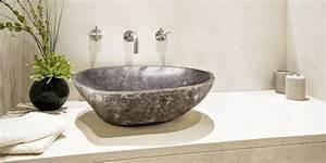 lavabo en pierre un materiau qui transforme la salle de bains With salle de bain design avec lave main pierre naturelle