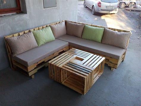 canapé angle palette wooden pallet l shape sofa set