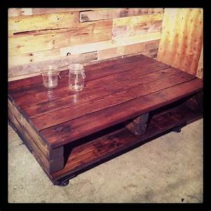 17 best images about reclaimed barn wood on pinterest for Reclaimed beam coffee table
