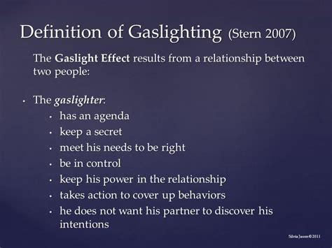 gas lighting meaning the experiences of partners of addicts ppt