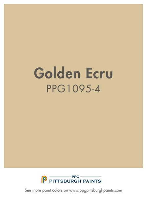 what color is ecru golden ecru is a golden beige paint color from ppg