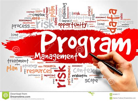 program management program management stock image image of integration 60485177