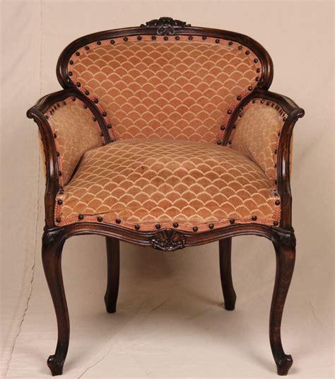 louis xv style antique velvet carved vanity