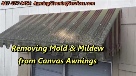 awning cleaning  remove mold mildew dallas fort worth tx youtube