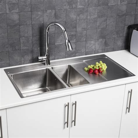 square kitchen sink stainless sauber square inset stainless steel sink 1 5 bowl