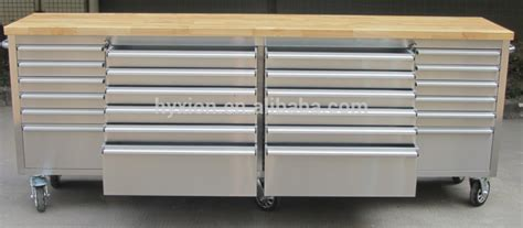Rolling Wooden Top Work Bench,heavy Duty Drawer Work Bench