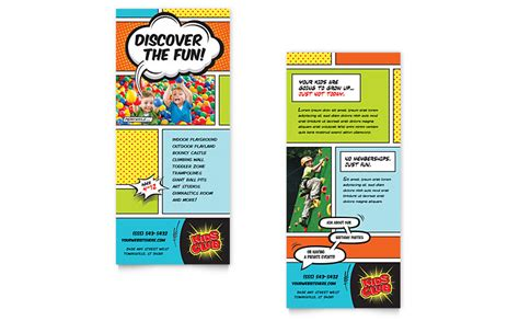kids club rack card template word publisher
