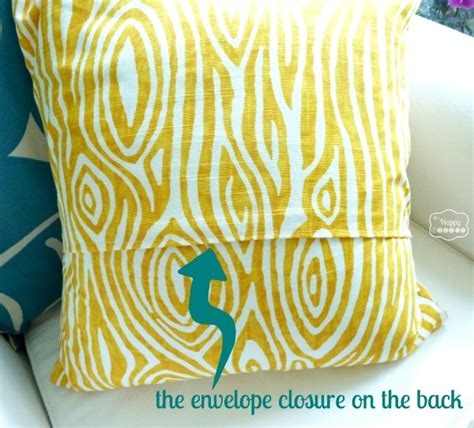 how to make pillows easy fast ten minute one envelope