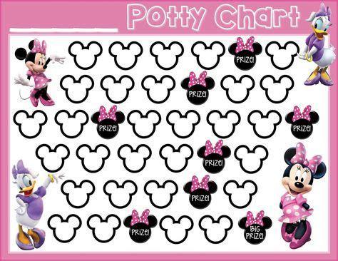 potty training  printable minnie mouse daisy duck  printable potty training chart
