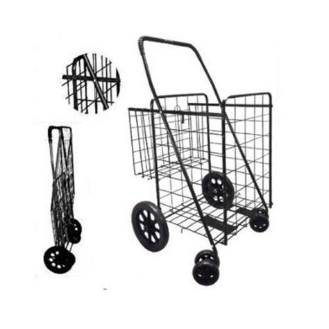 Foldable Grocery Cart Shopping Large Collapsible Wheels