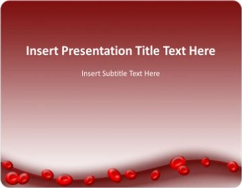 Blood Ppt Templates Free by Blood Cell Powerpoint Template