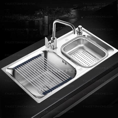 large stainless steel kitchen sinks sinks large capacity kitchen sinks with faucet 9662