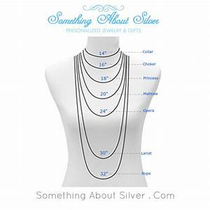 Necklace Length Size Guide Chart For Layered Long Chains