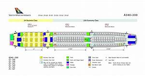 A340 500 Seating Chart Airplane Pics South African Airways A340 200 Seat Plan