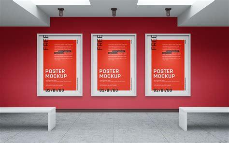 Poster Mockup Free Gallery Wall Canvas Poster Mockup Psd