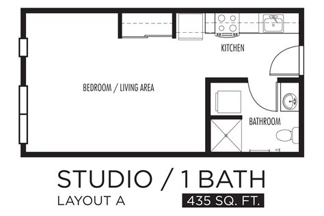 apartment layout design kitchen studio apartment pencil and in color
