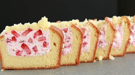 strawberry cheese pound cake strawberry cheesecake stuffed pound cake