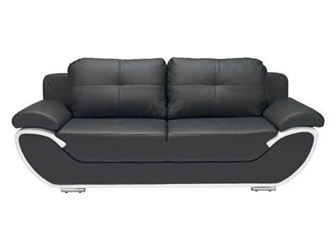 canap conforama canapé fixe convertible 3 places pacora coloris noir et