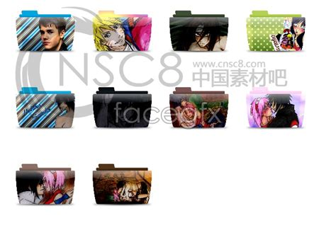 Anime Folder Icons Free Anime Folders Desktop Icons Millions Vectors Stock
