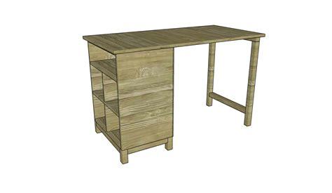 wood desk plans myoutdoorplans  woodworking plans