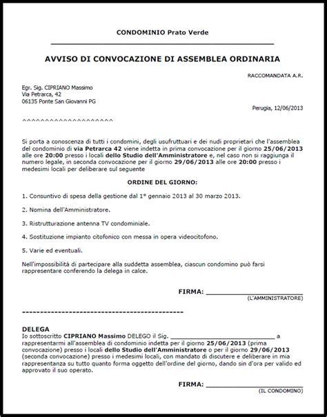 lettera al condominio lettera richiesta spese condominiali inquilino
