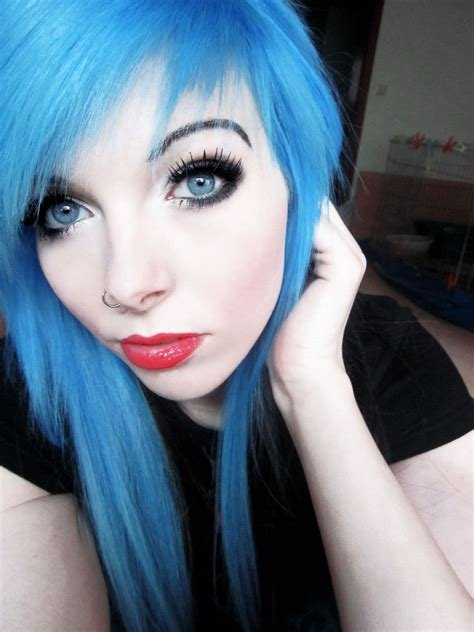 Brightly Dyed Hair Is Popular In The Emoscene Subculture