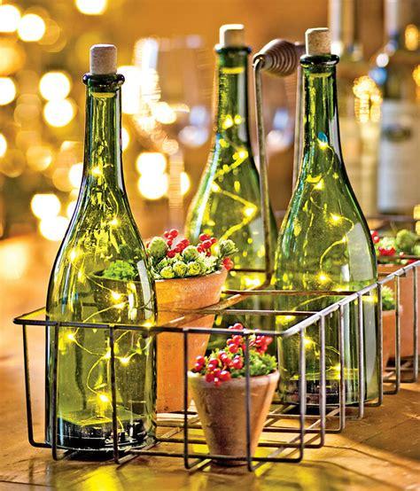 ideas     wine bottle candle holders
