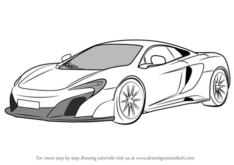 mclaren f1 drawing learn how to draw mclaren 675lt sports cars step by step