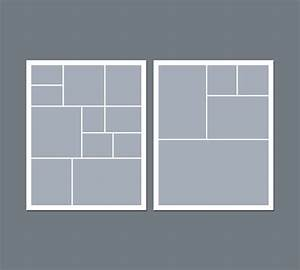 Collage Template Photoshop Instant Download Digital Photo Collage Template 8 X 10