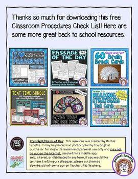 Classroom Procedures and Routines   Classroom procedures ...